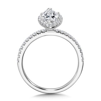 Classic Straight Marquise Halo Engagement Ring