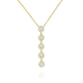 14k Gold and Diamond Linear Necklace