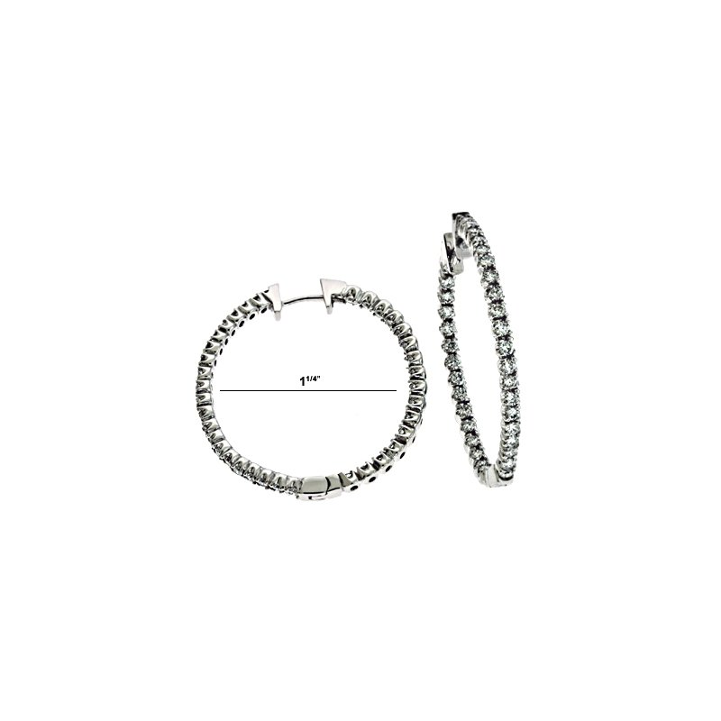 S. Kashi  & Sons Diamond Oval Hoop Earring