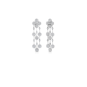 Cento Floral Cluster Chandelier Earrings
