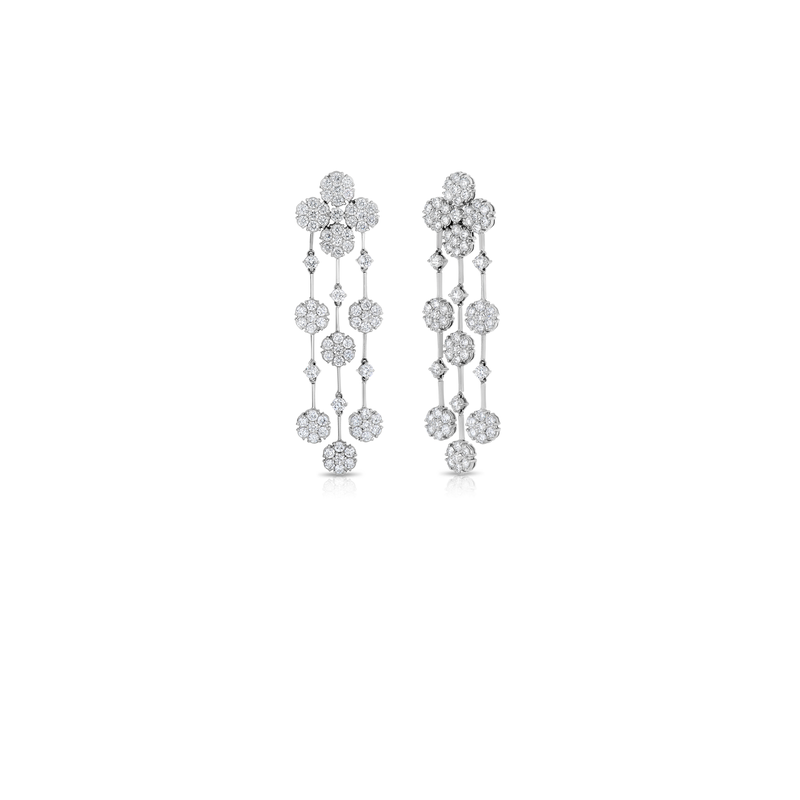 Roberto Coin Cento Floral Cluster Chandelier Earrings