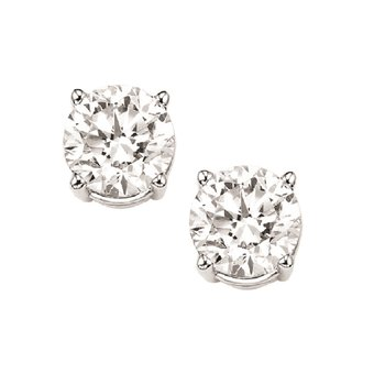 Diamond Stud Earrings in 18K White Gold (3/4 ct. tw.) I1/I2 - J/K