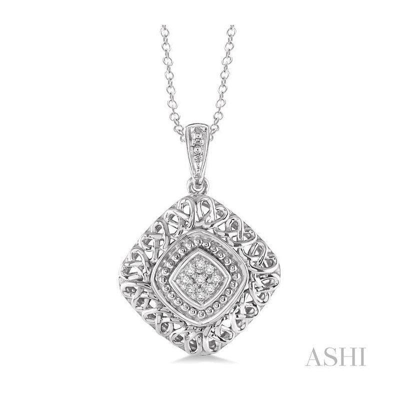Barclay's Signature Collection silver diamond pendant