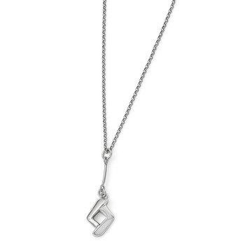 Leslie's Sterling Silver Polished w/1in ext. Necklace