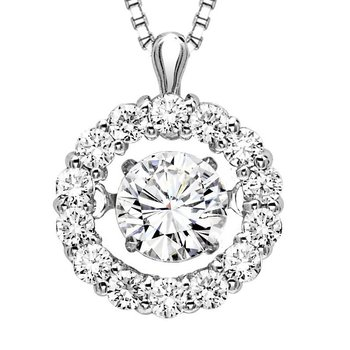 14K Diamond Rhythm Of Love Pendnat 3/8 ctw