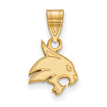 Gold-Plated Sterling Silver Texas State University NCAA Pendant