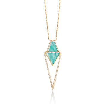 Amazon Breeze & Diamond Necklace