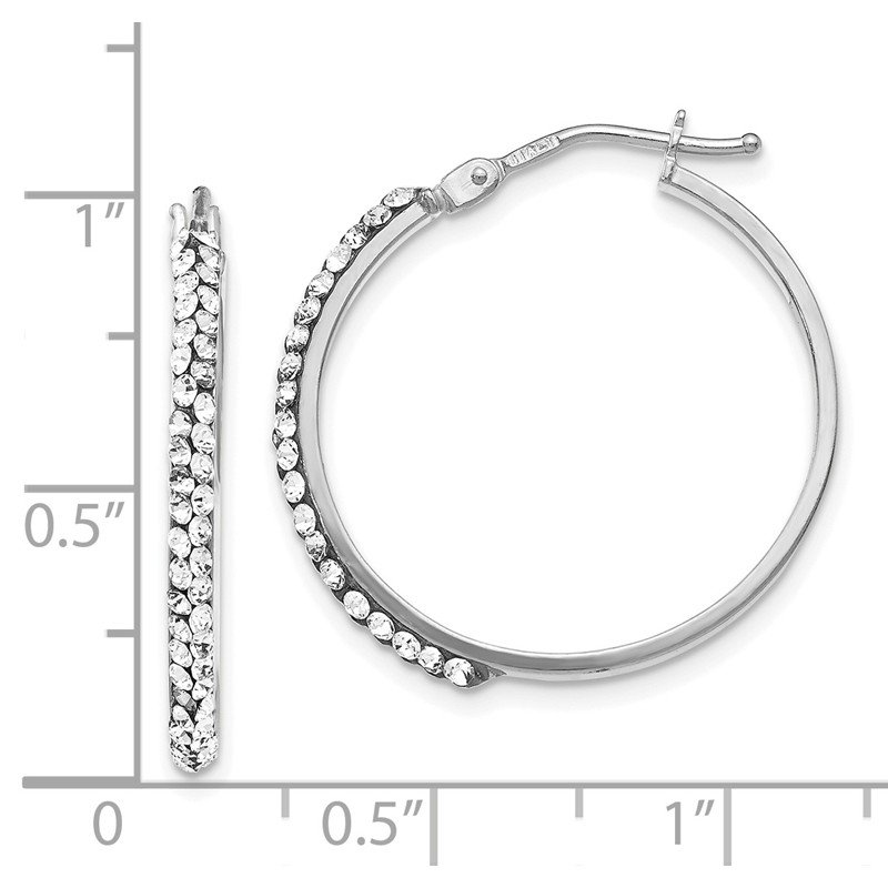 Leslie's Leslie's 14K White Gold Crystals from Swarovski Polished Hoop Earrings
