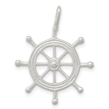 Sterling Silver Boat Wheel Charm
