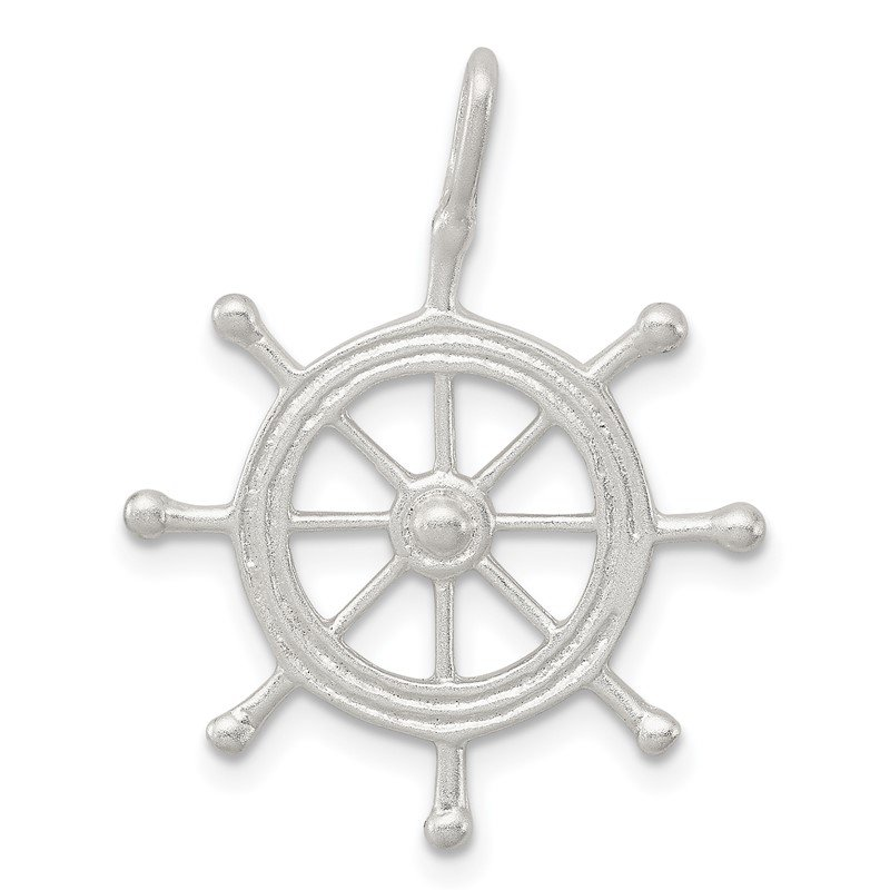 Quality Gold Sterling Silver Boat Wheel Charm