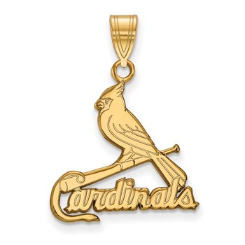 Gold St. Louis Cardinals MLB Pendant