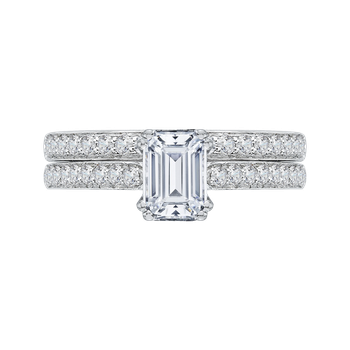 14K White Gold Promezza Engagement Set
