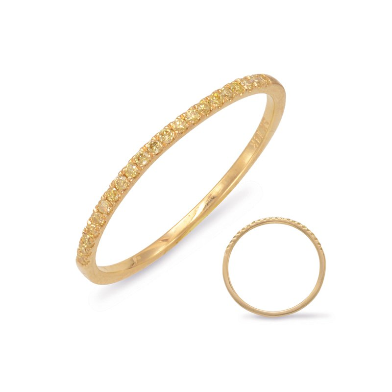 S. Kashi & Sons Bridal Yellow Diamond Wedding Band