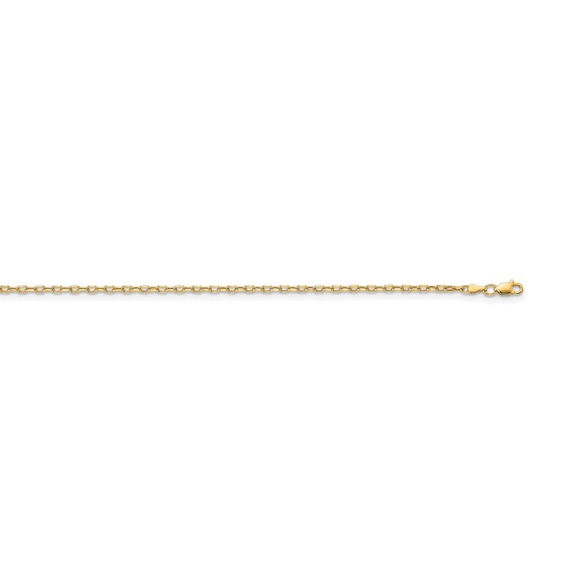 Quality Gold 14k 3mm Semi-solid D/C Open Link Cable Chain