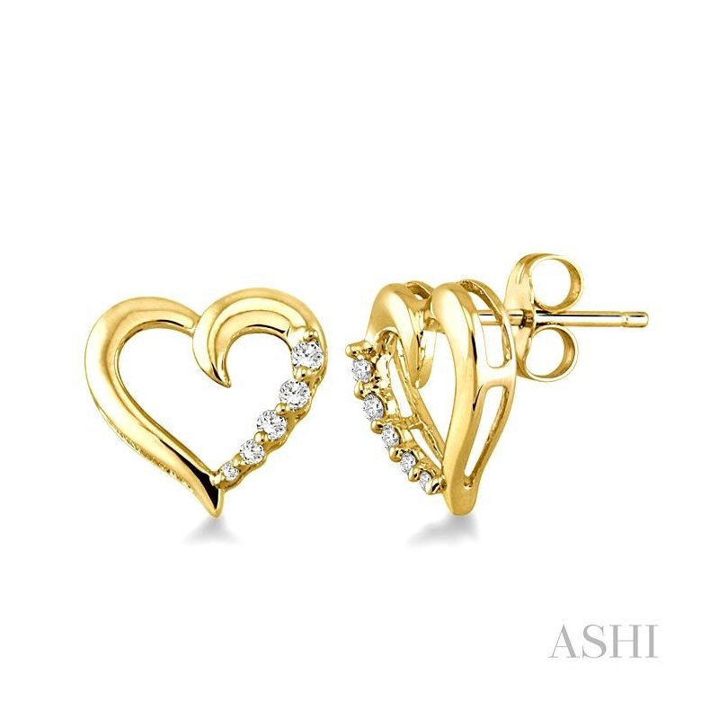 ASHI heart shape journey diamond earrings