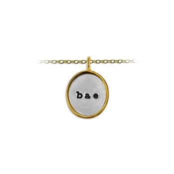 20mm Oval  Tag Charm with Frame