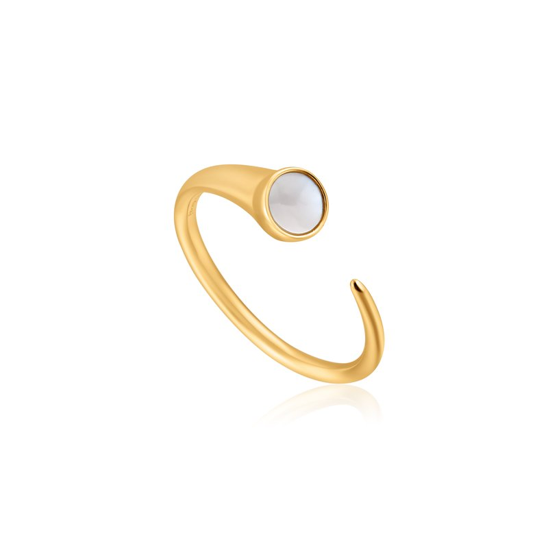 Ania Haie Mother Of Pearl Claw Ring