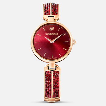 Dream Rock Watch, Metal Bracelet, Red, Rose-gold tone PVD