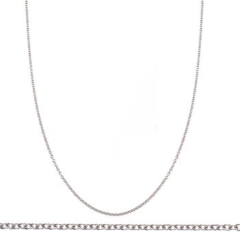 - Platinum 1.1mm Cable Chain Necklace