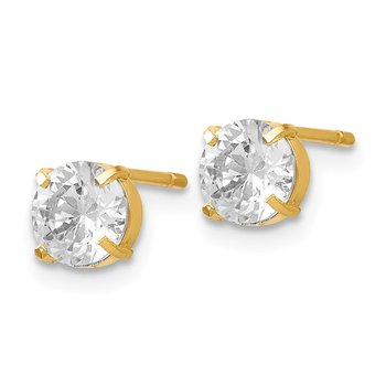 Leslies 14k CZ Stud 5.0mm Earrings
