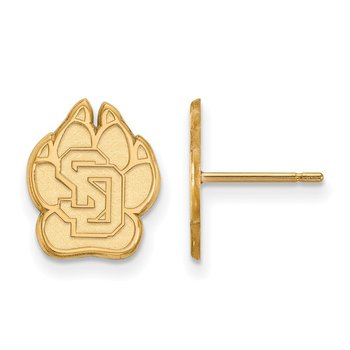 Gold University of South Dakota NCAA Earrings