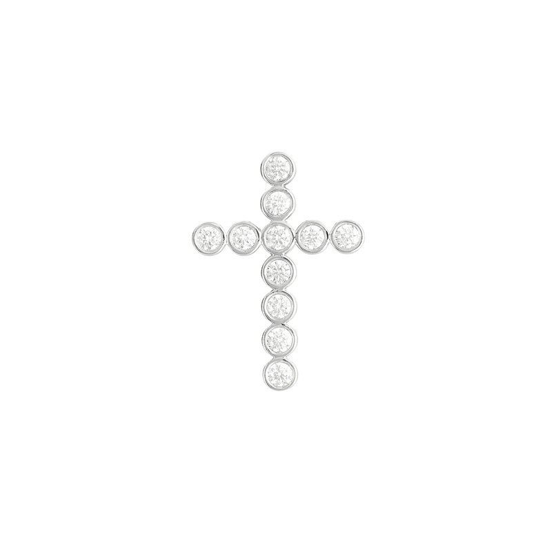 S. Kashi  & Sons Diamond Cross Pendant 32mm