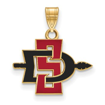 Gold-Plated Sterling Silver San Diego State University NCAA Pendant