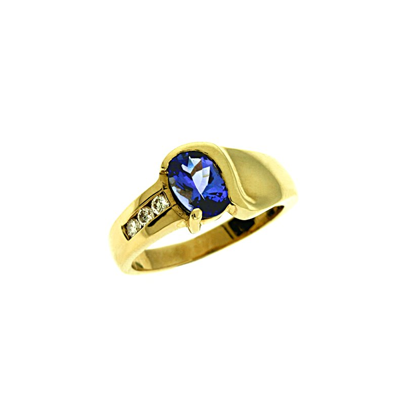 S. Kashi  & Sons Tanzanite./diamond Ring