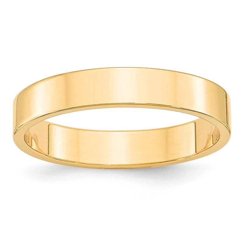 Quality Gold 14KY 4mm LTW Flat Band Size 10
