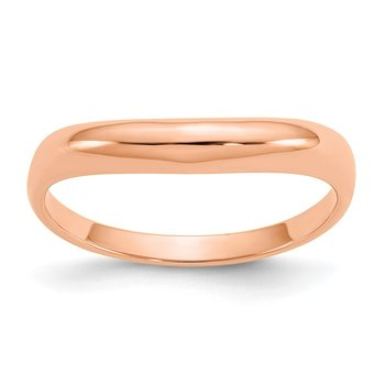14k Rose Gold Polished Stackable Wave Ring