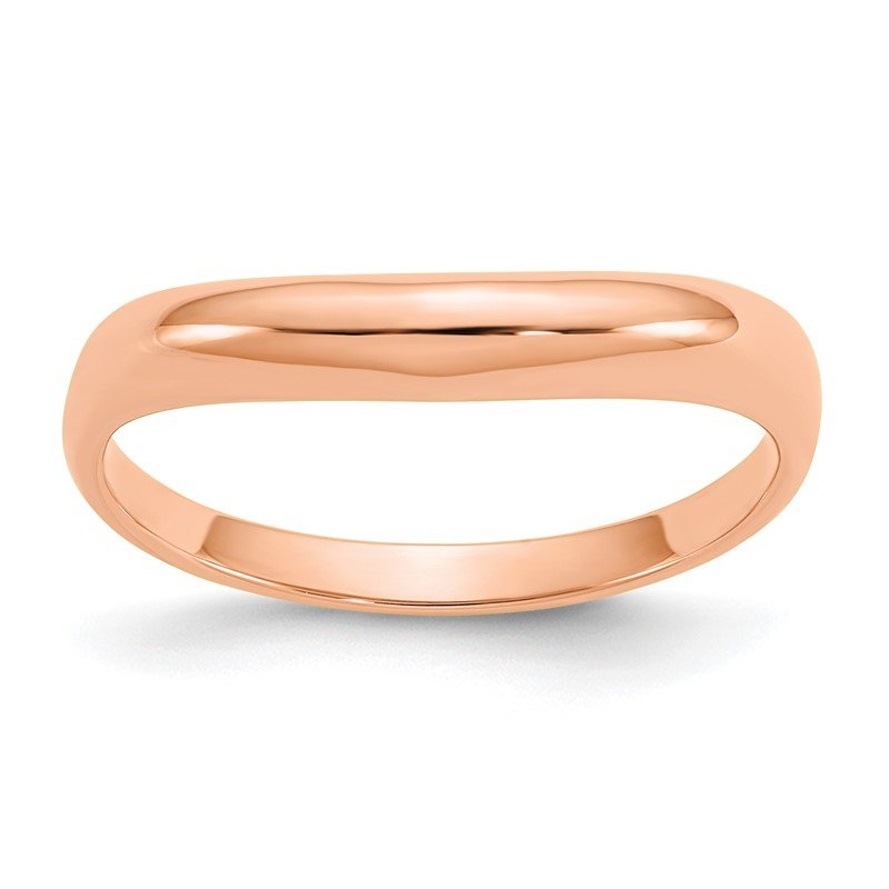 Quality Gold 14k Rose Gold Polished Stackable Wave Ring