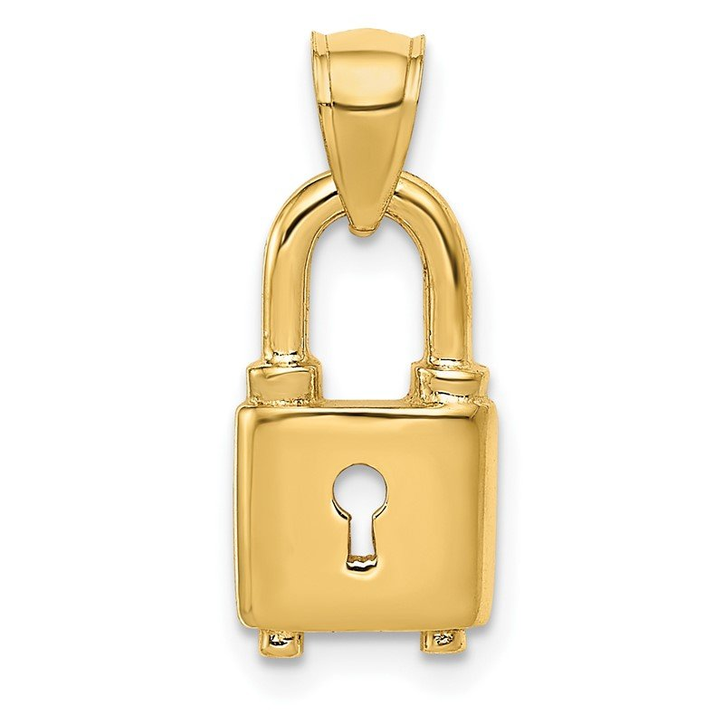 Arizona Diamond Center Collection 14K Polished Lock Charm