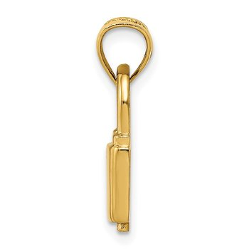 14K Polished Lock Charm