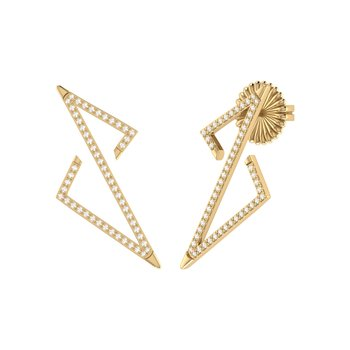 Electric Spark Earrings in 14 KT Yellow Gold Vermeil on Sterling Silver
