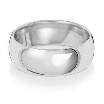 18Ct White Gold 7mm Traditional Court Wedding Ring