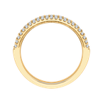 Carizza 14K Yellow Gold Round Diamond Half-Eternity Wedding Band