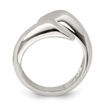 Sterling Silver Round Overlapping Ring