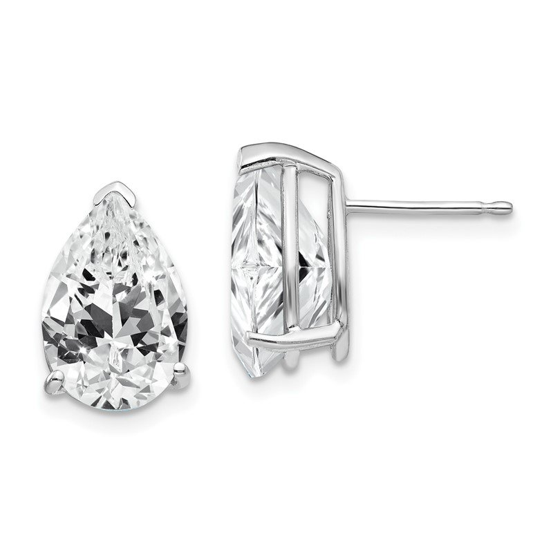 Arizona Diamond Center Collection 14k White Gold 12x8mm Pear Cubic Zirconia Earrings