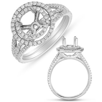 White Gold Halo Ring