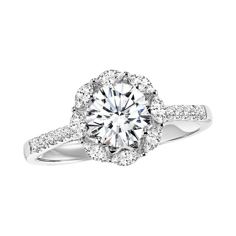 Bridal Bells 14K Diamond Engagement Ring 1/3 ctw With 1 ct Center