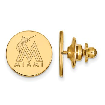 Gold-Plated Sterling Silver Miami Marlins MLB Lapel Pin