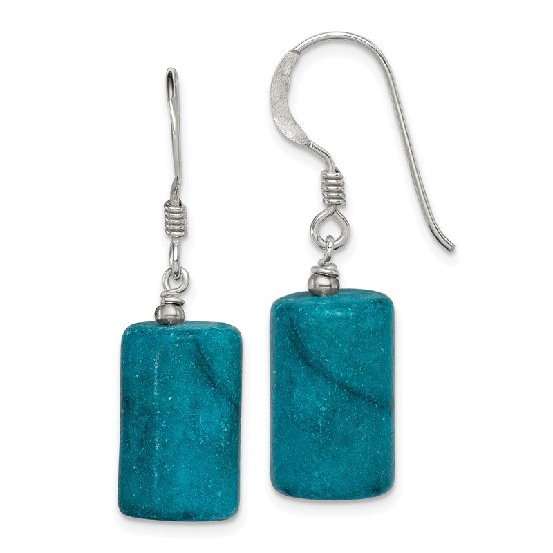 Quality Gold Sterling Silver Blue Jasper Earrings