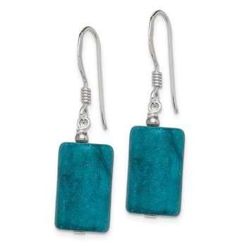 Sterling Silver Blue Jasper Earrings