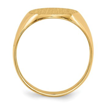 14k 13 x12mm Closed Back Signet Ring