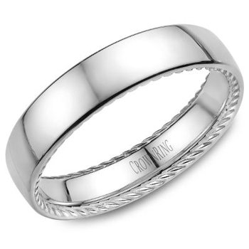 CrownRing Men's Wedding Band WB-012R5W