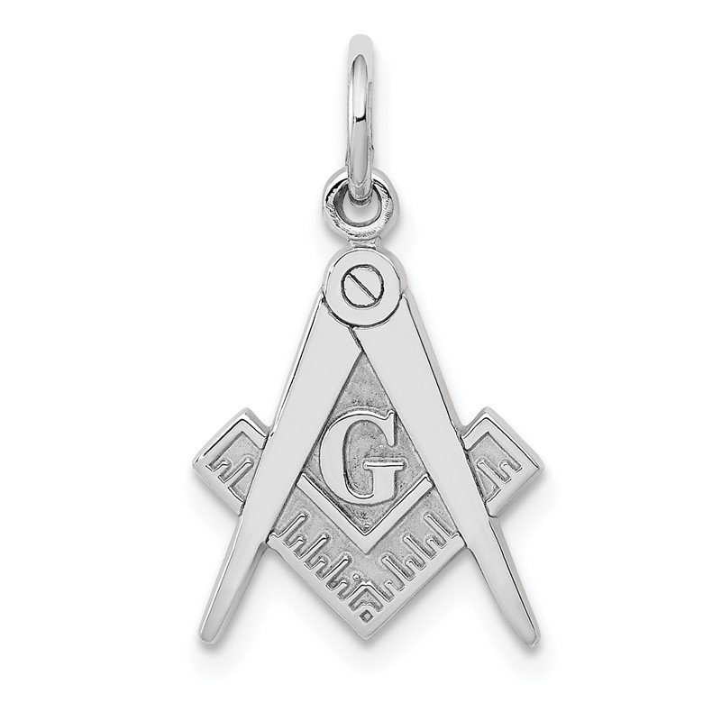 Quality Gold 14k White Gold Polished Masonic Charm