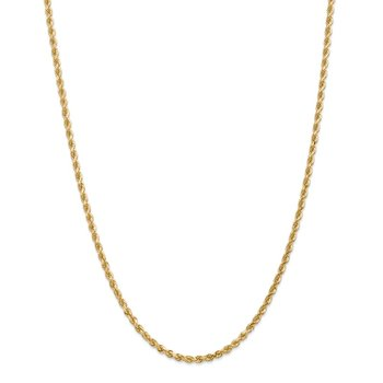 Leslie's 14K 3.00mm Diamond Cut Rope Chain
