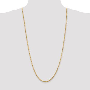 Leslie's 14K 3mm Diamond-Cut Rope Chain