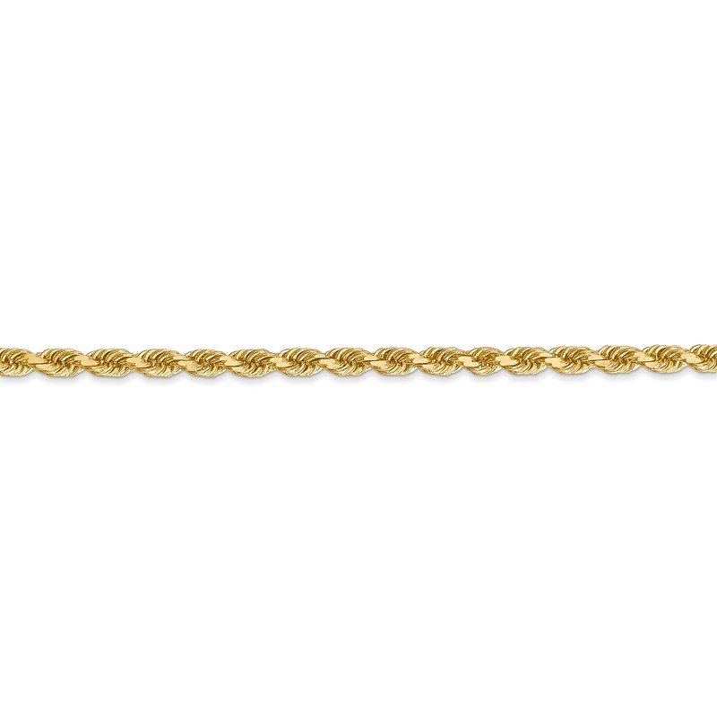 Leslie's Leslie's 14K 3.00mm Diamond-Cut Rope Chain