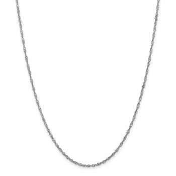 Leslie's 10K White Gold 1.7 mm Sparkle Singapore Chain